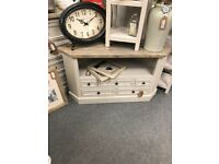 Vintage shabby chic TV stand