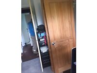 2 x Softwood Pine Wood Doors 4 panels Very Good condition (2 available)