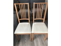 Pair of Perfect Condition Solid Wood Chairs