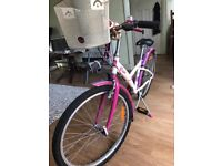 Girl's bike for sale - cream pink and purple