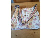 Floral Cath Kidston messenger bag. Hardly used.Fabric strap.