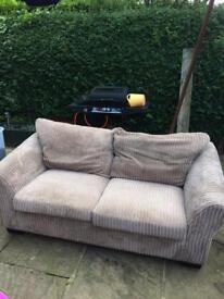Light brown cord sofa