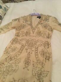 Needle and Threat Heavy hand sewn floor length evening dress