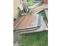 Fence panels x 10