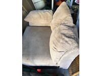 FREE beige fabric one side corner sofa settee, good condition, 4ft long,just what you see in picture