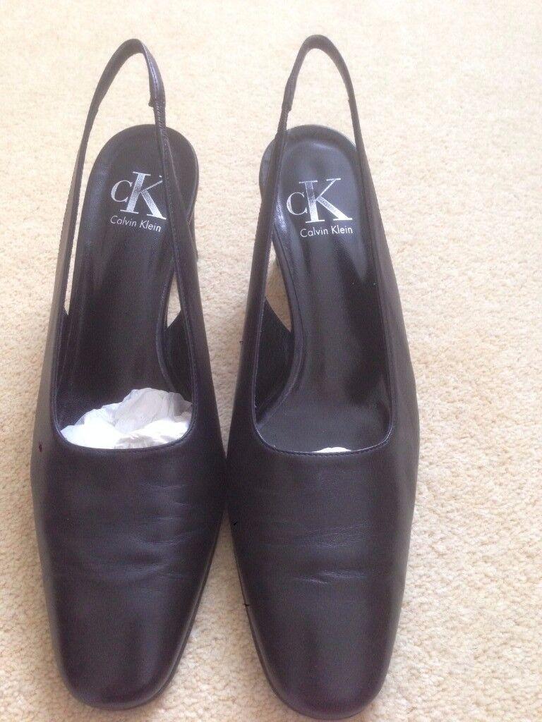 Gorgeous Calvin Klein sling-back shoes UK size 5.5