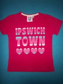 Girls Pink I Love Ipswich Town T Shirt Age 7-8 Years IP1