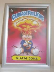 Iconic Retro 80s Garbage Pail Kids Adam Bomb Framed Poster A3 Size