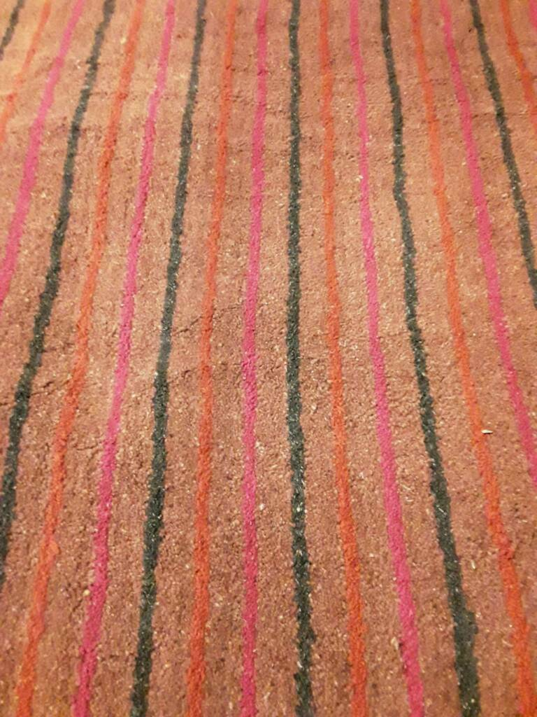 dark green bright pink and orange striped rug  mm x mm  - dark green bright pink and orange striped rug  mm x mm