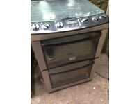 Black silver gas cooker 55cm..,..Mint Free delivery
