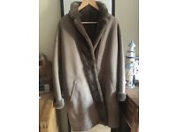 SPRUNG Sheep Skin Winter Coat, Reversible, Size M