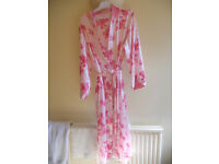 PINK SATIN DRESSING GOWN/ROBE.