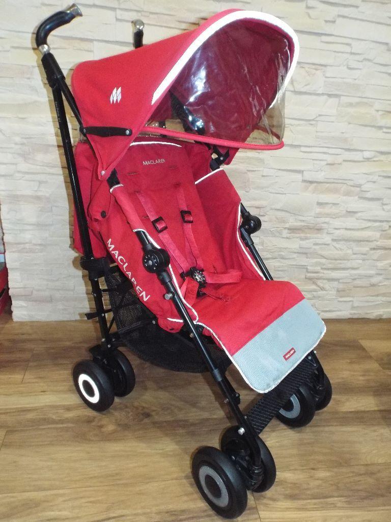 Red Maclaren Techno Xt Stroller Pushchair In