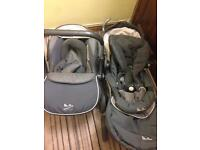 Baby pushchair and baby car seat