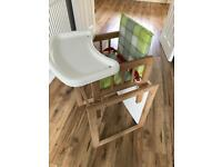 Wooden High chair and desk