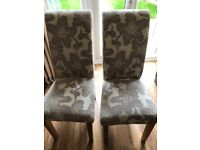 Pair of Harvey's dining room chairs