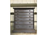 Vintage Antique Collectors Specimens Chest Of Drawers