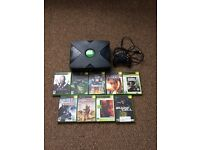 Xbox original with games and PlayStation 1 with games retro both in working order