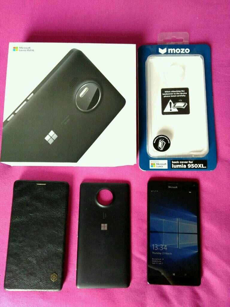 Microsoft lumia 950 XLWarranty64gb cardin Bournemouth, DorsetGumtree - Hi,I am selling Microsoft Lumia 950 XL in very good condition (truly). It is a black version (back cover), but I will add original mozo wooden cover(£25, looks amazing) and 64gb sd card.All comes with waranty from Carephone warehouse (till 09. 06....