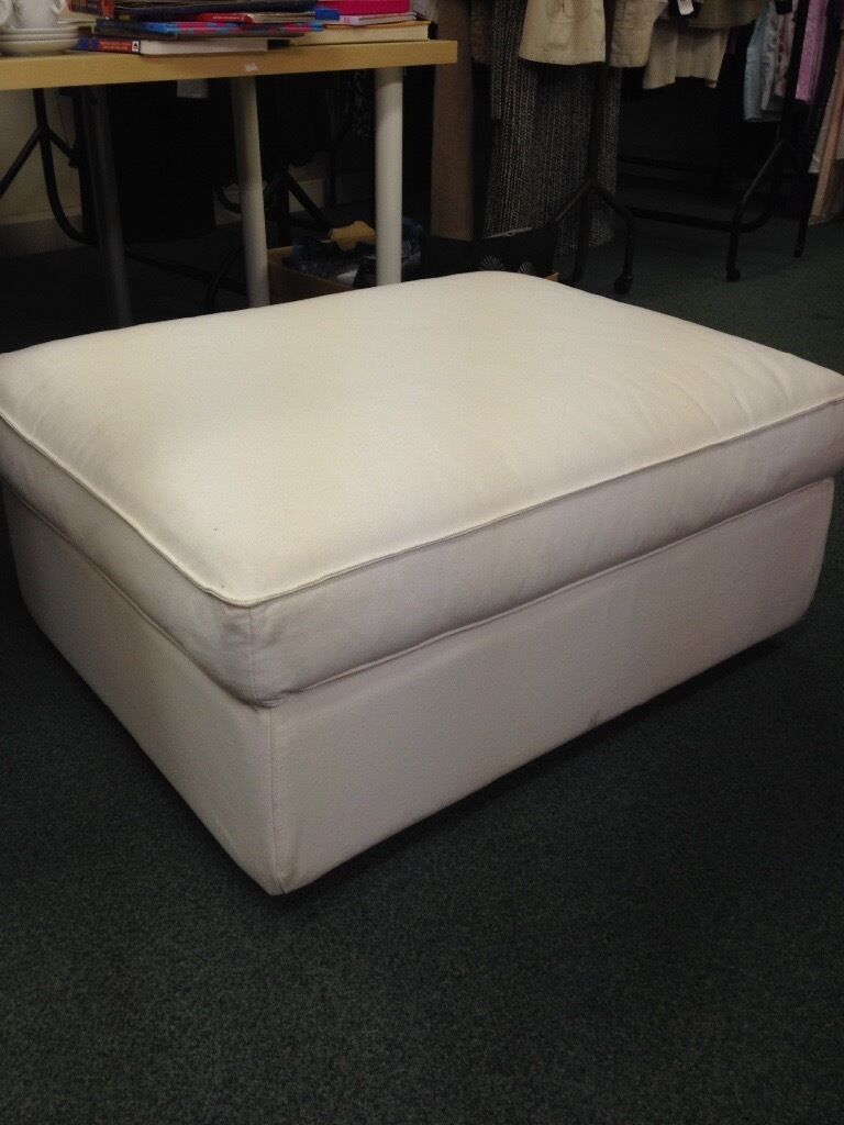 Ikea Kivik Ottoman White Footstool Storage Large In