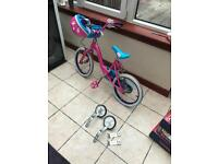 Girls Kids Shopkins Bike Pink + Free Helmet & Stabilisers.