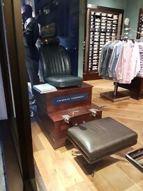 Luxury shoeshiner (training provided) for in-store service £8.50p/h plus tips - Part Time