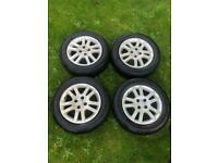 4 2005 Honda Civic wheels with tyres