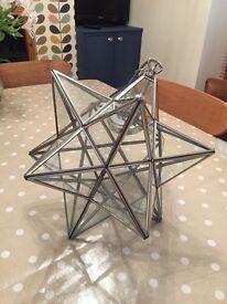Star glass light fitting from John Lewis