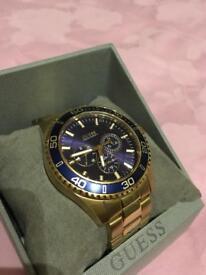 Gold Guess Men's Watch