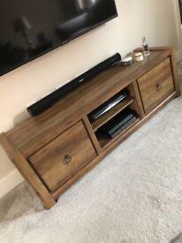 Dark oak 'NEXT' tv cabinet and set of 3 side tables