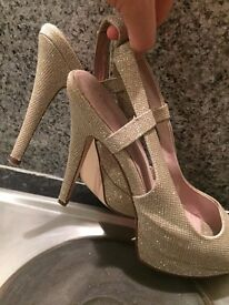 Used Next Sparkly Hills, Gold/Silver. SIZE 7/41