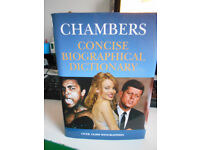 Chambers Concise Biographical Dictionary 1045 Page Hardback Book