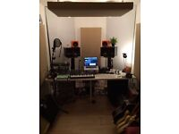 Sound proofed studio available in creative community with 24/7 access