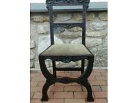 Set 4 Victorian Carved Green Man Dining Chairs
