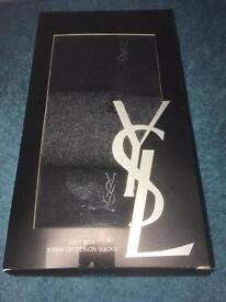 YSL Mens Designer Socks