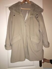Ladies silver grey three quater lenght jacket