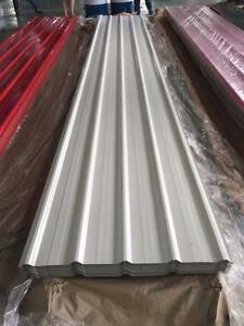 NEW 29 GA WHITE STEEL SIDING SHEET FOR POLE BARNS ROOFING METAL 12 FT 14 FT 16 FT BUILDING MATERIAL 29 GAUGE