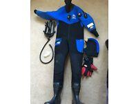 Compressed neoprene dry suit