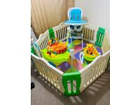 Baby playpen and toys bundle