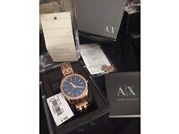 Armani Exchange Rose Gold Ladies watch