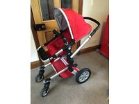 Joolz Day Pram (red) in great condition
