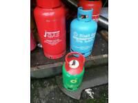 Empty gas bottles butane propane