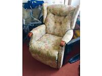 Rise and recline arm chair electric