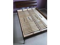 Double bed frame and head board