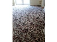 Good quality Axminster style patterened carpet (4.69m x 4.16m) + 8mm rubberised UNDERLAY