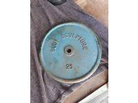 Cast iron 25kg body sculpture £50