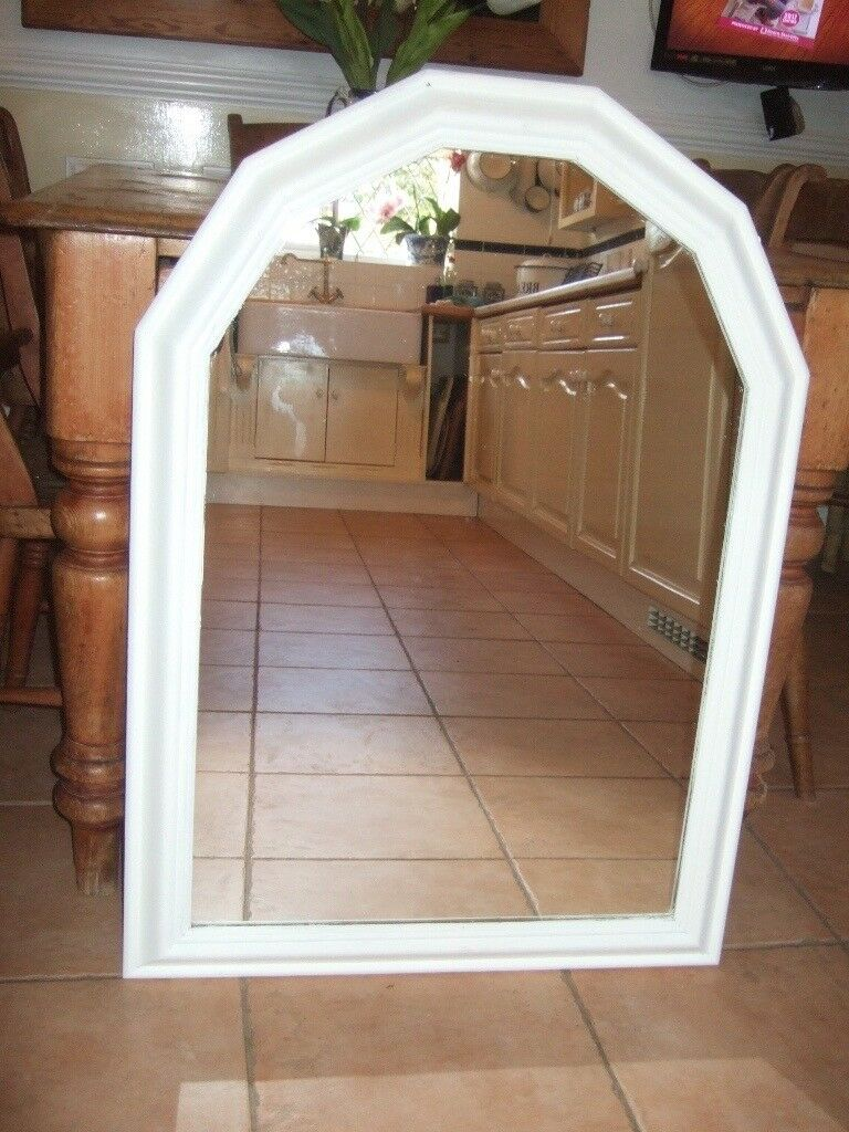 BEAUTIFUL LARGE SHABBY CHIC MIRROR