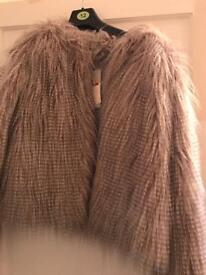 Red herring fur jacket