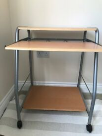 Z-shaped Computer Desk Workstation Study Table for Small Space Place Home Office Writing Table