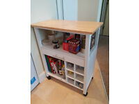 [New and Half Price] Kitchen furniture - Trolley with wine racks